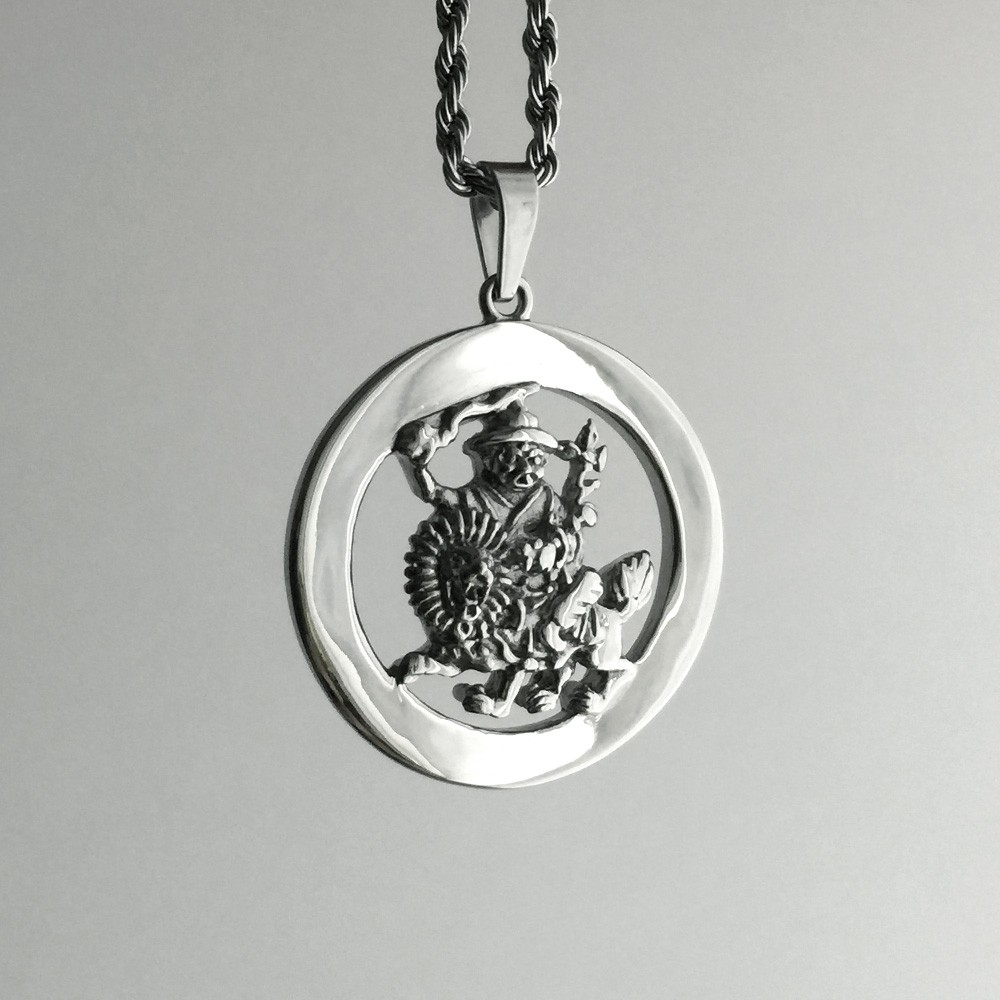 tibetan silver phurba buddhist necklace sterling protection vajra amulet pendant double a dorje