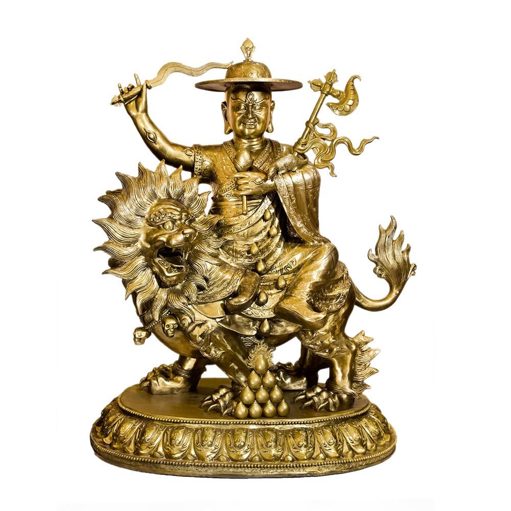 Shugden Statue Dorje Shugden Brass Statue 39