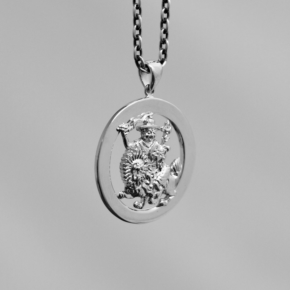 dorje pendant crossed products potalagate silver