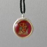 Dorje Shugden Silver Encased Pendant