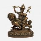 Dorje Shugden Oxidised Brass Statue
